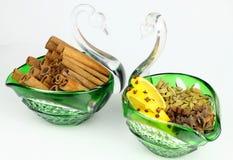 Spices.Food en keukeningrediënten. Royalty-vrije Stock Foto
