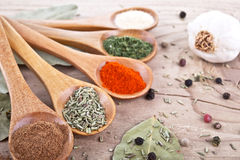 Spices Food Preparation on table Food ingredients Stock Images