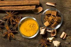 Spices For Bake Gingerbread Royalty Free Stock Photos