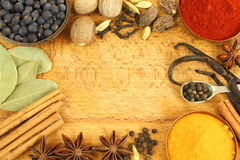 Spices frame Royalty Free Stock Photo