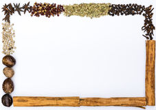 Spices frame Stock Image