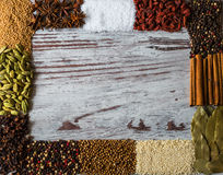 Spices frame with copy space for creativity Royalty Free Stock Image