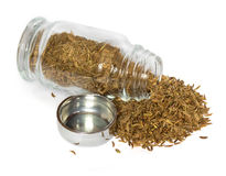 Spices in glass bottle Stock Images
