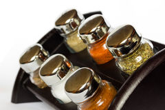 Spices in glass bottle Royalty Free Stock Images