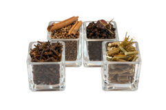Spices in glass isolated Royalty Free Stock Image