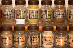 Spices in glass jars Stock Image
