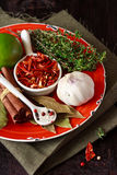 Spices and herbs. Royalty Free Stock Images