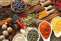 Spices and herbs. Royalty Free Stock Image