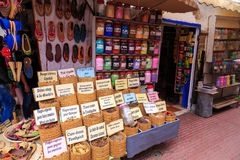 Spices and herbs being sold on street stal at Morocco market Royalty Free Stock Photos