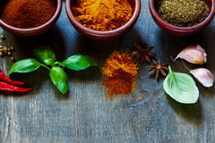 Spices and herbs Royalty Free Stock Photography