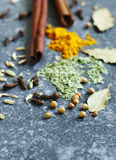 Spices and herbs for cooking Stock Photo