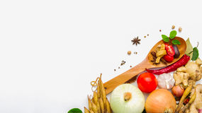 Spices and herbs , Food and cuisine ingredient on white backgrou Royalty Free Stock Images