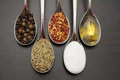Spices and herbs. Food and cuisine ingredients. stock photography