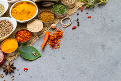 Spices and herbs.Food and cuisine ingredients. Stock Photography