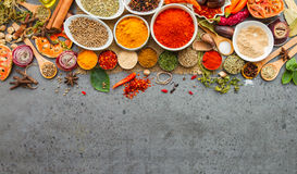 Spices and herbs.Food and cuisine ingredients. Royalty Free Stock Images
