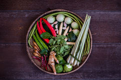 Spices and herbs. Are main ingredients to make chili paste to make Thai curry Stock Photography