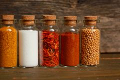Spices, herbs and seeds Royalty Free Stock Images