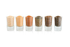 Spices and herbs in small glass Stock Images