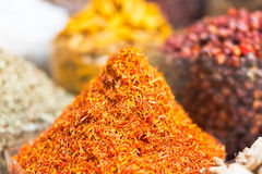 Spices and herbs souk in Dubai Royalty Free Stock Photos