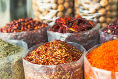 Spices and herbs souk in Dubai Stock Photography
