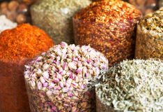 Spices and herbs souk in Dubai Royalty Free Stock Photography