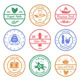 Spices And Herbs Stamps Royalty Free Stock Photography
