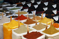 Spices Herbs and Teas from India Stock Photo
