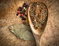 Spices In A Spoon Stock Photography