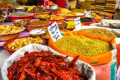 Spices India Delhi market royalty free stock photos
