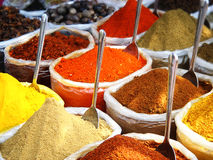 Spices in the Indian Market Royalty Free Stock Images