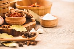 Spices and ingredients Royalty Free Stock Photo