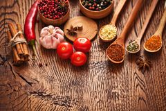 Spices and ingredients Stock Photo
