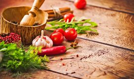 Spices and ingredients Royalty Free Stock Image