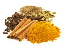 Spices, isolated Royalty Free Stock Image