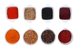 Spices  isolated in white Stock Images