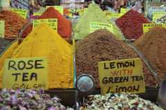 Spices in an Istanbul bazar Stock Photography