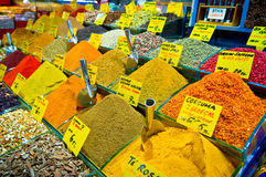 Spices on Istanbul market, Turkey Stock Image