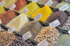 Spices at istanbul spice market Stock Images