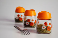 Spices jars Royalty Free Stock Image