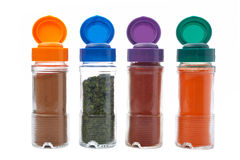 Spices jars Royalty Free Stock Photos