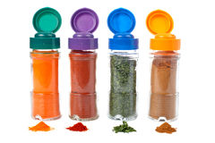 Spices jars Stock Image