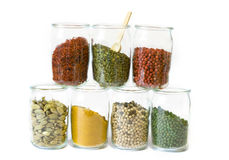 Spices in jars Stock Image