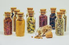 Spices in jars. royalty free stock photos
