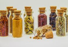 Spices in jars. stock images