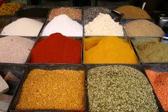 Spices in Jodhpur, Rajastan stock photography