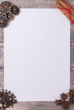 Spices like frame with white paper for text. Copy space Stock Photo