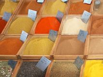Spices on the market Stock Photos