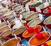 Spices in market Royalty Free Stock Photos