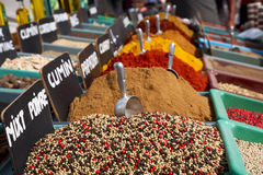Spices in the market Royalty Free Stock Photo