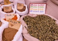Spices on the market Stock Image